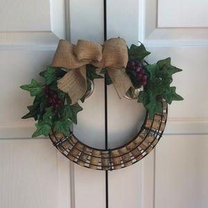 🍷 Decorative wine cork wreath 🍷